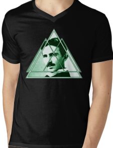 Tri-Tesla Mens V-Neck T-Shirt
