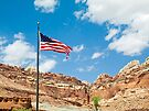 USA Flag at Capitol Reef by Kenneth Keifer