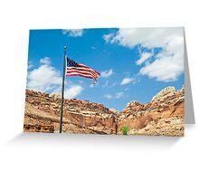 USA Flag at Capitol Reef Greeting Card