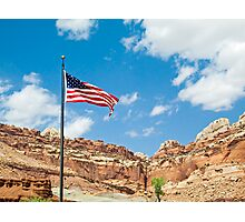 USA Flag at Capitol Reef Photographic Print