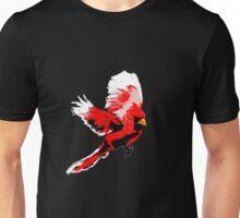 Painted Cardinal Design Unisex T-Shirt