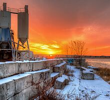 Winter sunset over the Meadowlands by ptkxiii