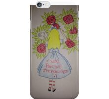 Alice in Wonderland - Painting the roses red. iPhone Case/Skin