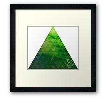 Green Pyramid landscape geometric Framed Print