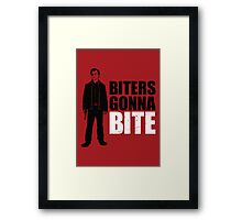 Biters Gonna Bite Framed Print