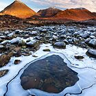 Sligachan. Red Hills in Winter. Isle of Skye. Scotland. by photosecosse /barbara jones