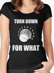 Turn Down 4 WHAT Women's Fitted Scoop T-Shirt