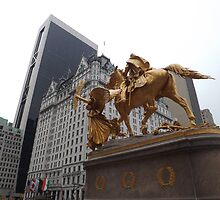 General Sherman Statue, Plaza Hotel, Central Park South, New York City by lenspiro