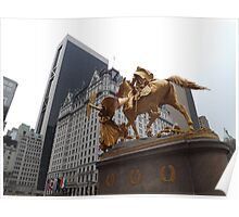 General Sherman Statue, Plaza Hotel, Central Park South, New York City Poster