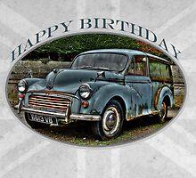Morris Minor Traveller - Happy Birthday by Karosh