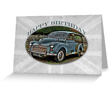 Morris Minor Traveller - Happy Birthday Greeting Card