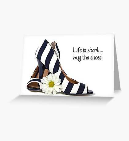 Bold Striped Shoes Greeting Card