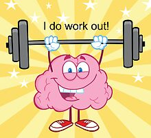 I Do Work Out!  Full Color Version Yellow Background by themindaware