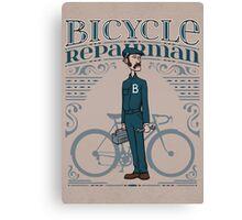 Bicycle Repairman Canvas Print