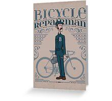 Bicycle Repairman Greeting Card