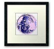 Blue gal Round Framed Print