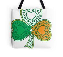 Shamrock and Heart Design Tote Bag