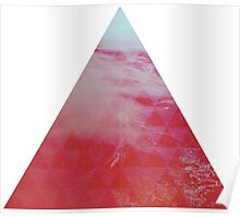 Red Pyramid landscape geometric Poster