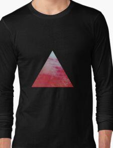 Red Pyramid landscape geometric Long Sleeve T-Shirt
