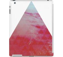 Red Pyramid landscape geometric iPad Case/Skin