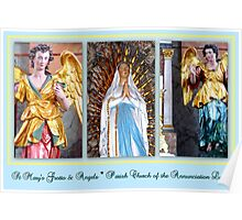 St. Mary's Grotto & Angels ~ Parish Church of the Annunciation Leeder Poster