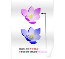 Roses are #FF0000 Poster