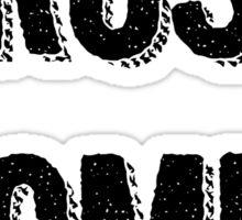 Trust Women (dark on light) Sticker