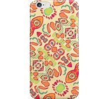 Multicolored Romance Ornament Swirls iPhone Case/Skin