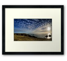 The Sun over the Gannet Rocks Framed Print