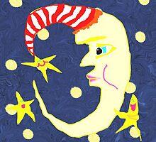 The Moon And Stars Converse by pinkyjainpan