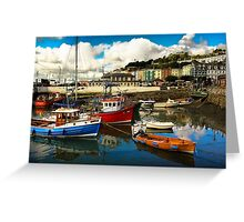 Irish harbor Greeting Card
