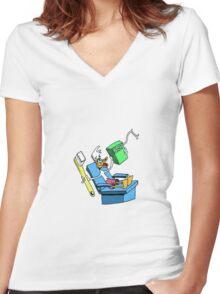 Brush & Floss Women's Fitted V-Neck T-Shirt