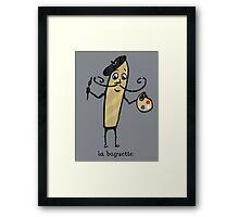 la baguette French bread cartoon Framed Print