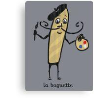 la baguette French bread cartoon Canvas Print