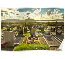 Irish cemetery Poster