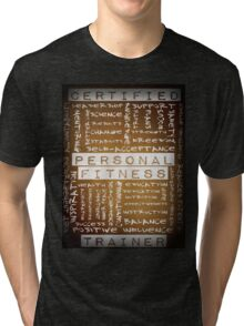 Certified Personal Fitness Trainer Wordcloud Tri-blend T-Shirt