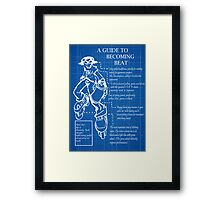 A guide to becoming Beat Framed Print