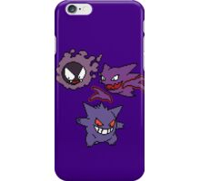Gastly, Haunter and Gengar iPhone Case/Skin