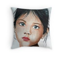 Raven haired  Throw Pillow