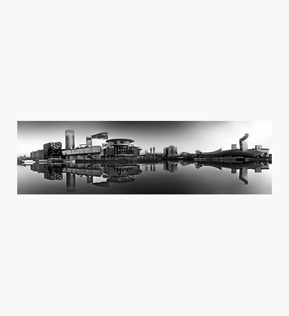 Salford Quays Panorama (B&W) Photographic Print