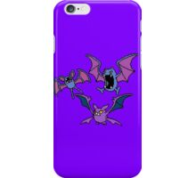Zubat. Golbat and Crobat iPhone Case/Skin