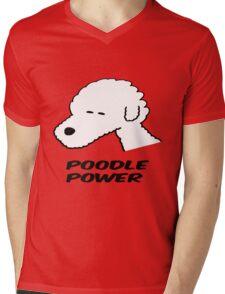 Poodle Power Mens V-Neck T-Shirt