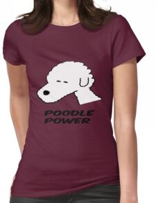 Poodle Power Womens Fitted T-Shirt