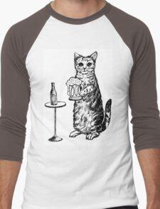 Real Cat Love Beer Men's Baseball ¾ T-Shirt