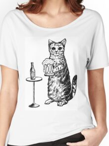 Real Cat Love Beer Women's Relaxed Fit T-Shirt
