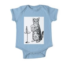 Real Cat Love Beer One Piece - Short Sleeve