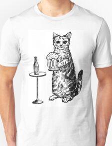 Real Cat Love Beer T-Shirt