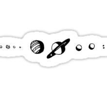 solar system doodle Sticker