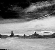 Trona Pinnacles in Black and White by Corri Gryting Gutzman