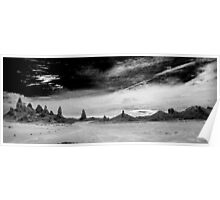 Trona Pinnacles in Black and White Poster